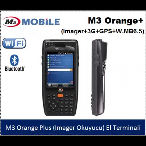 M3 Mobile M3 Orange Plus Wifi,Bluetooth,İmager Kamera,El Terminali